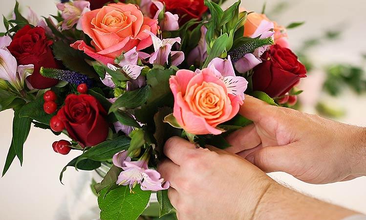 trim flowers